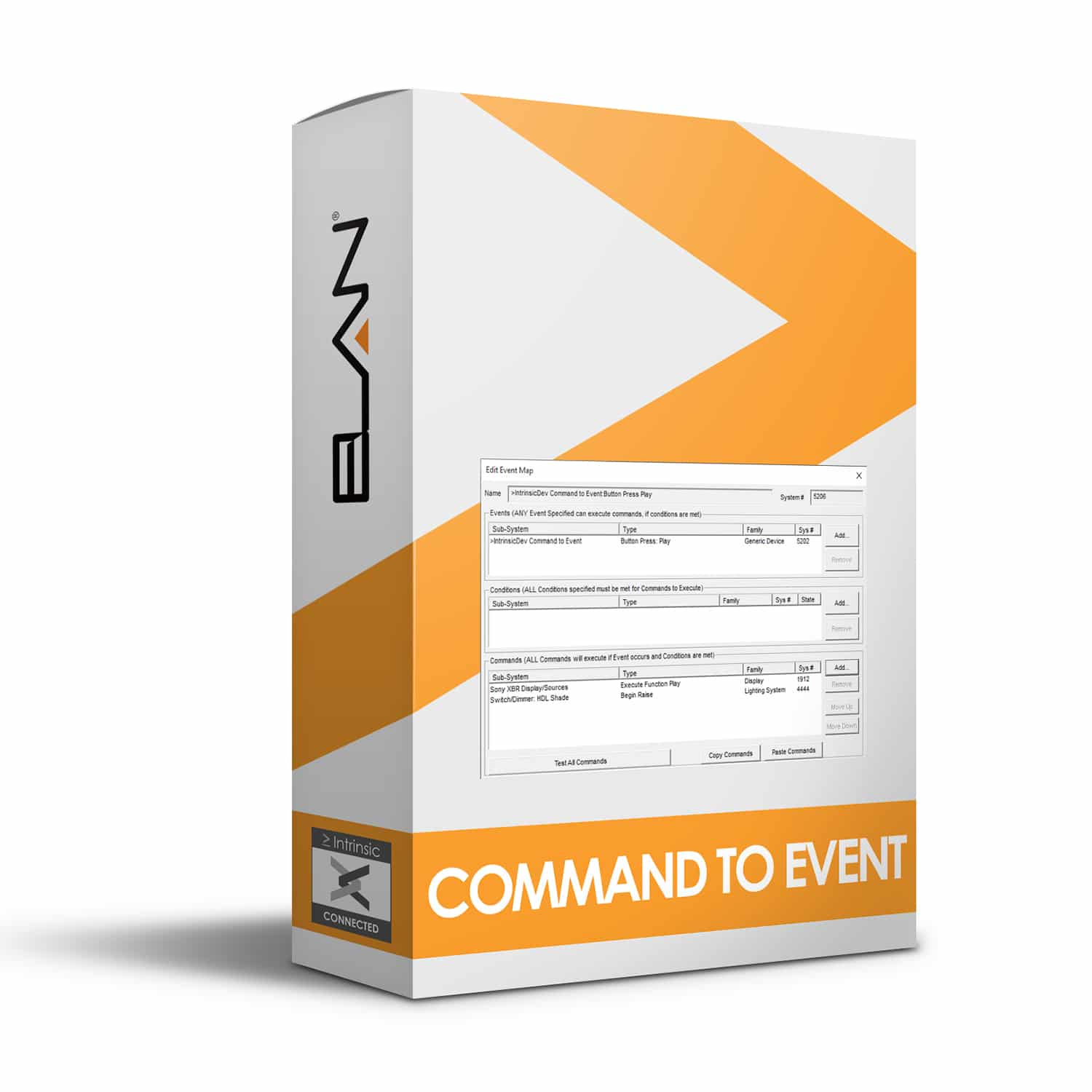 Command to Event Driver for ELAN