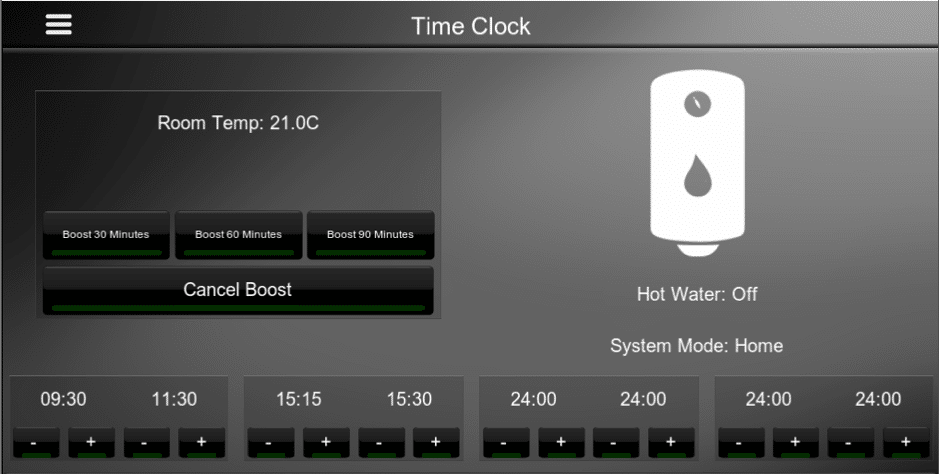 Heatmiser Time Clock Pro Driver for Elan Interface