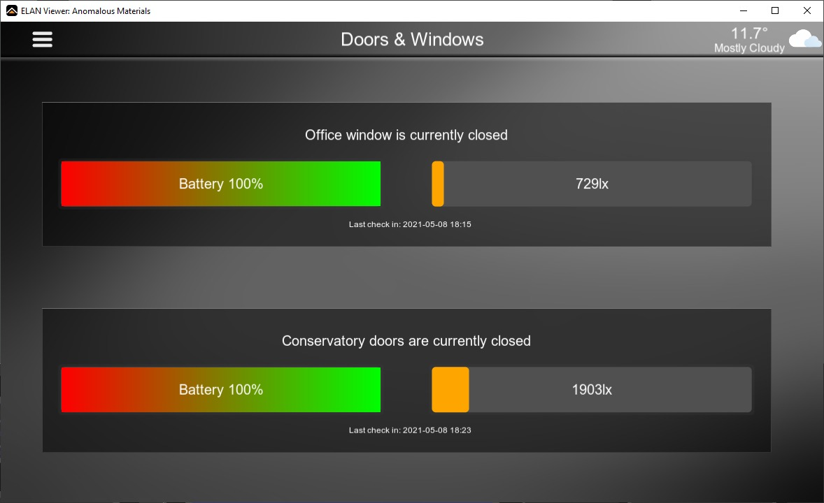 Shelly Door & Window Driver for Elan interface